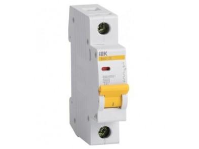 Автоматический выключатель IEK 25А (1p )  MVA20-1-025-C