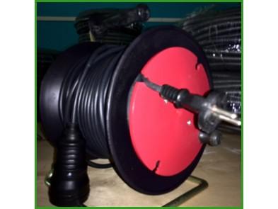 Удлинитель на катушке 25м (ПВС 2х1.5) с розеткой выносной