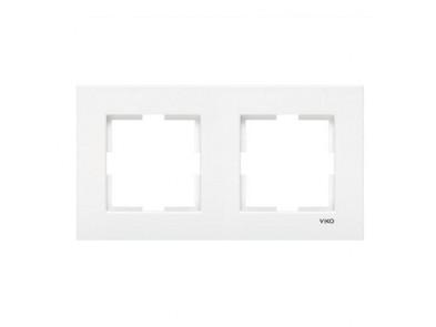 Рамка двойная белая VIKO Karre 90960201 горизонтальная