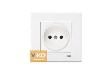 Розетка белая VIKO Karre без заземления 90960007