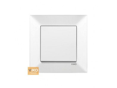Выключатель одноклавишный белый VIKO Meridian 90970001
