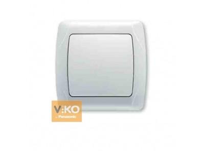 Выключатель одноклавишный белый VIKO Carmen 90561001