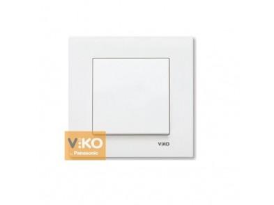 Выключатель одноклавишный белый VIKO Karre 90960001