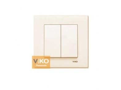 Выключатель двухклавишный крем VIKO Karre 90960102