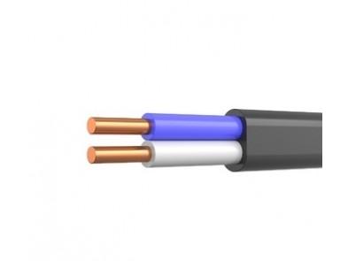 Кабель ВВГ П нг 2х2.5 Одескабель монолит плоский негорючий