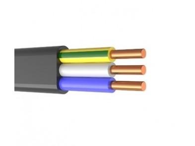 Кабель ВВГ П 3х1.5 монолит плоский